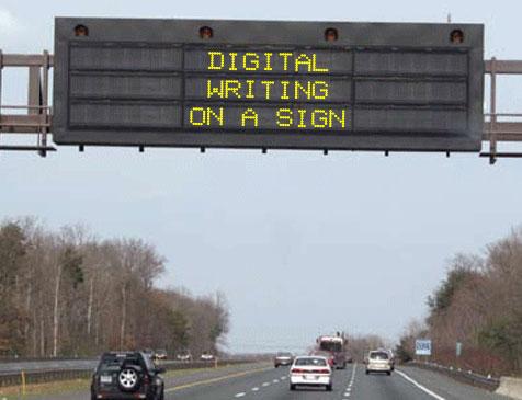 digital boulevard sign